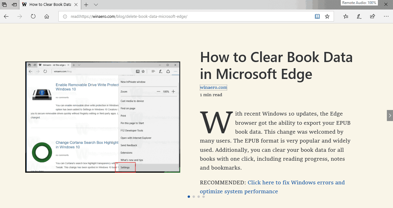 How to Enable Reading Mode in Edge Browser