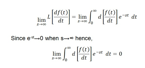 Initial Value Theorem Proof