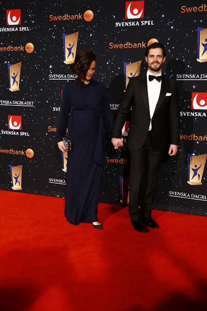 Prince Carl Philip and Princess Sofia of Sweden attended Swedish Sports Gala (Svenska idrottsgalan) organized by Swedish Sports Academy in Stockholm Ericsson Globe Arena on January 25th, 2016.