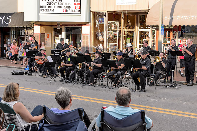 Blue Ridge Big Band at the Waynesville Block Party