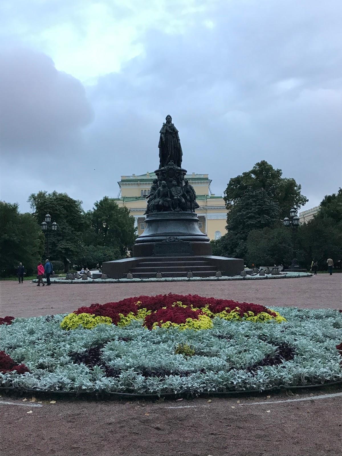 Estátua da Catarina - São Petersburgo
