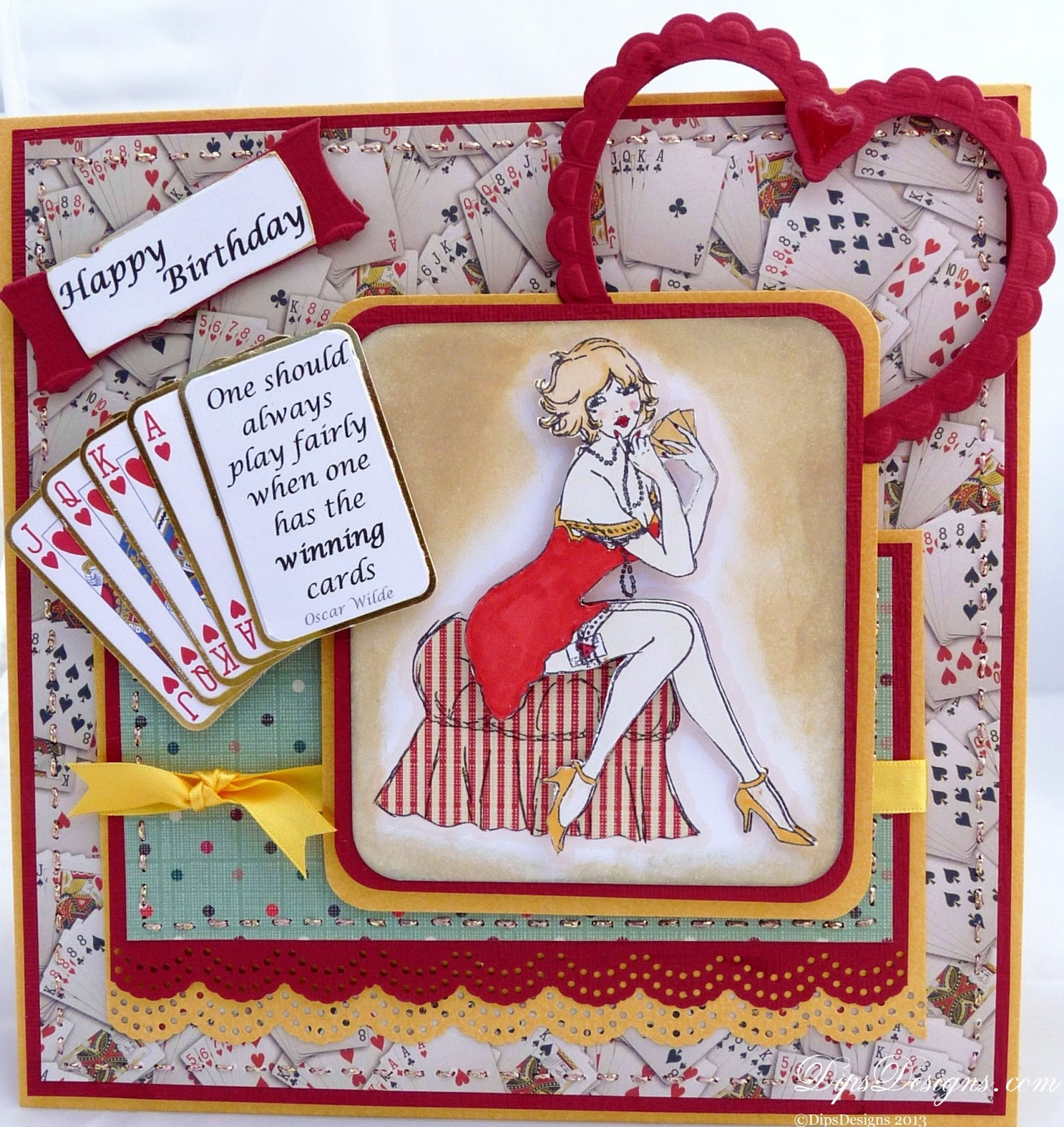 DipsDesigns: Poker Face Saucy Birthday Card