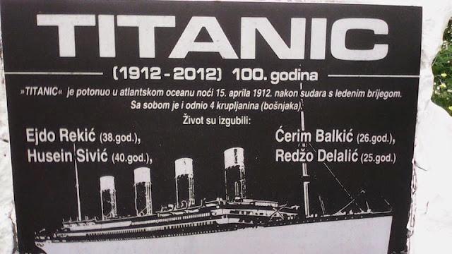 Jeste li znali da  potonuce titanika odnijelo živote 4 Bosnjaka?