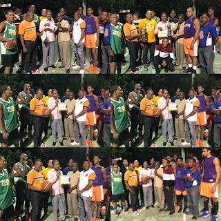 Regidor Wilson Díaz hace entrega aporte para torneo de baloncesto superior en Sainaguá