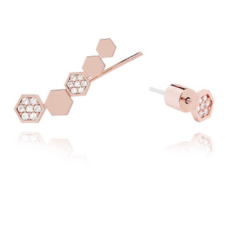 Rose gold Ear Crawler stud Astrid Miyu Jewellery Blog