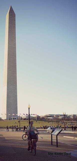 Riding Bikes near the Washington Monument