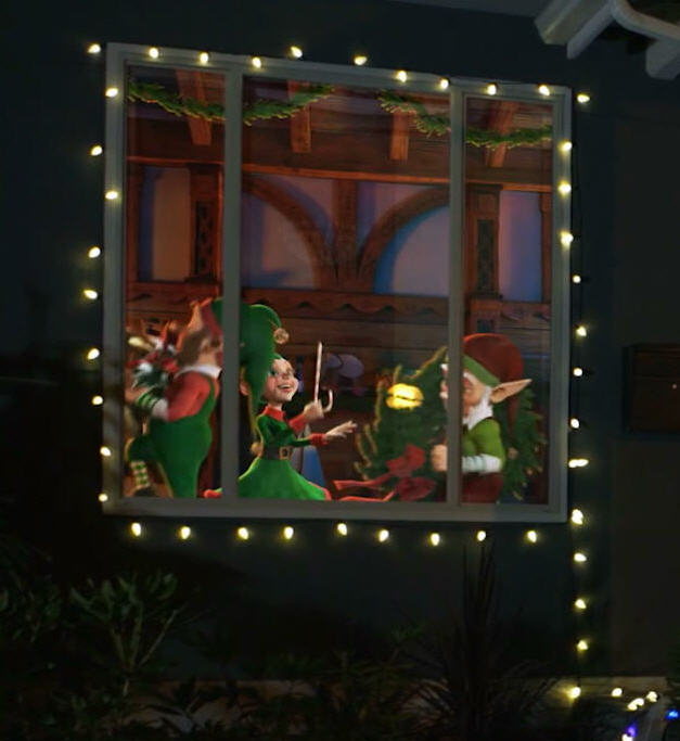 projection screen in the digital decoration kit totally easy because im a little ashamed to admit i still have everything set up among the craftermath - Christmas Digital Decorations