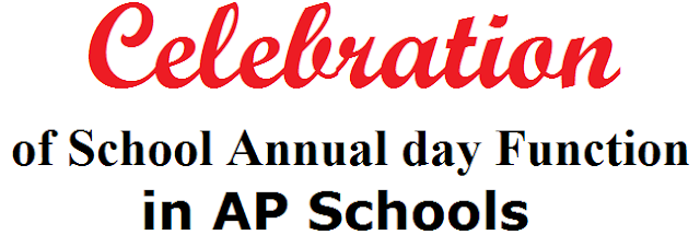 Celebration of School Annual day Function in AP Schools