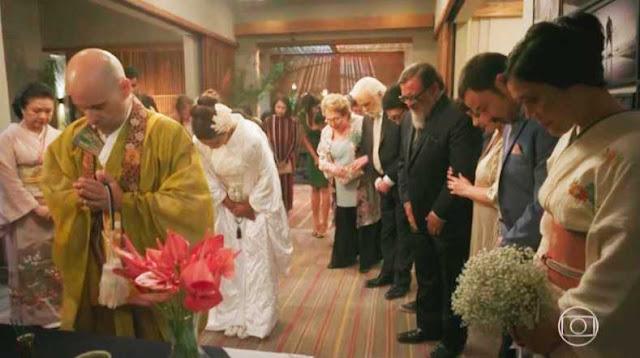 Referencia a Budha, casamento cena da novela