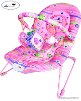 Junior L'abeille BR90001P Baby Bouncer in Pink