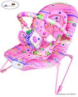 Junior L'abeille BR90001P Baby Bouncer in Pink