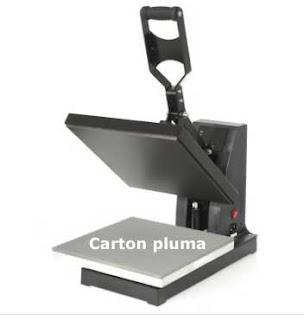 prensa termica para carton pluma