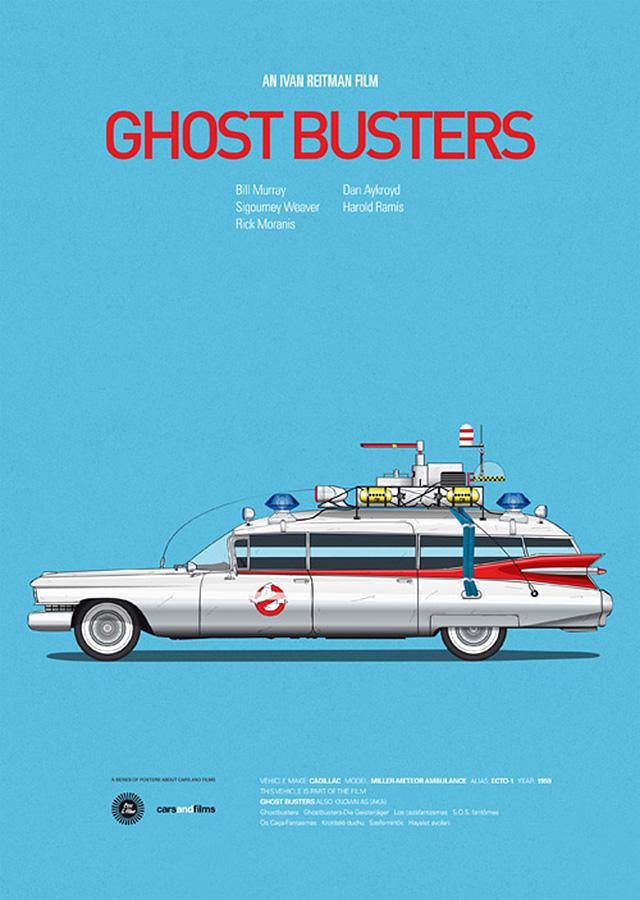 minimalist movie car poster art