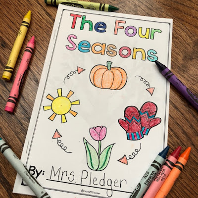 The Four Seasons emergent reader book for preschool and Kindergarten