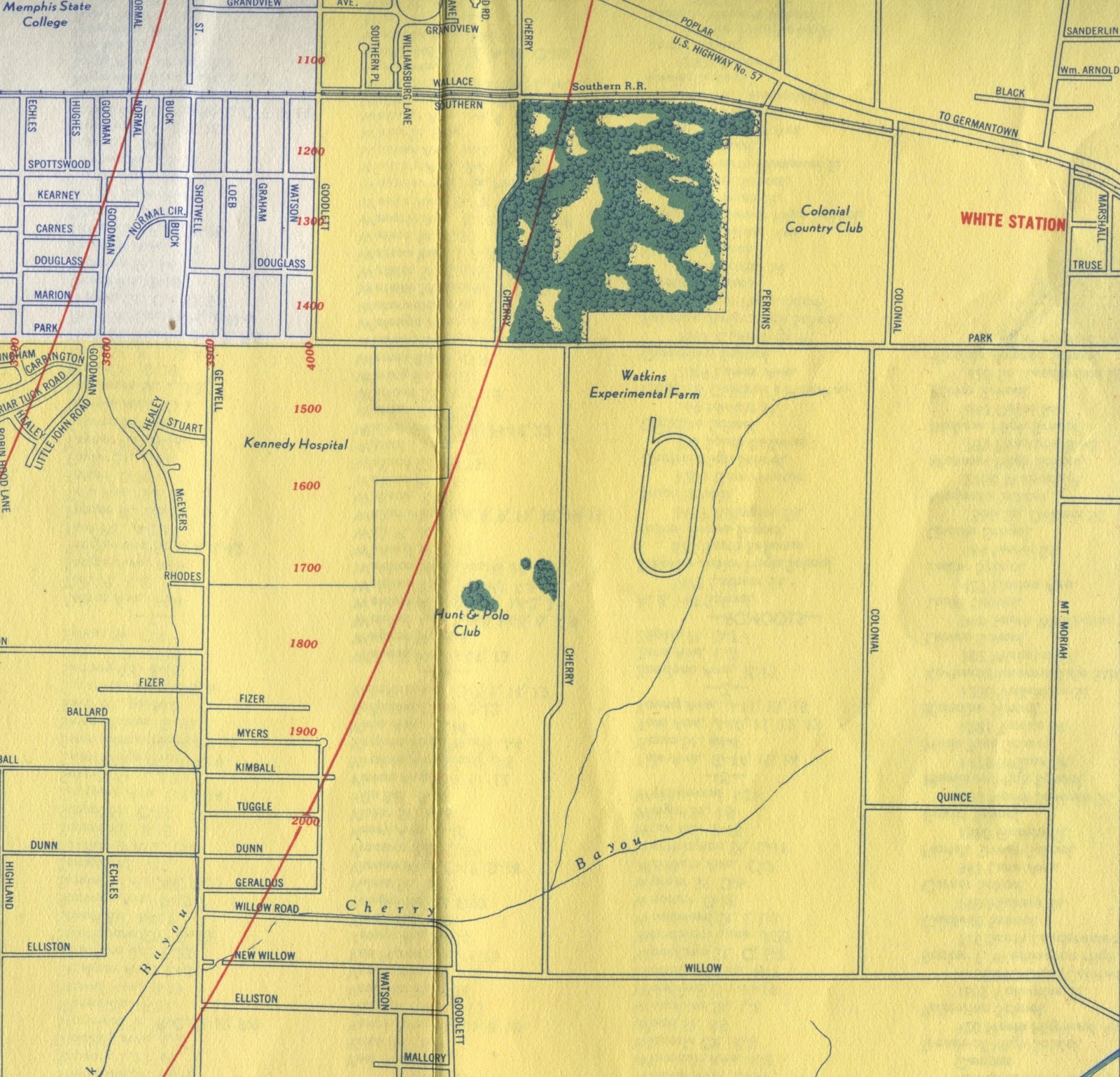 this map from 1947 by j foster ashburn reveals the source of the name polo club estates the subdivision was built at the old site of the hunt and polo