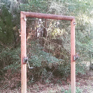 deer hoist with pulleys and gambrels