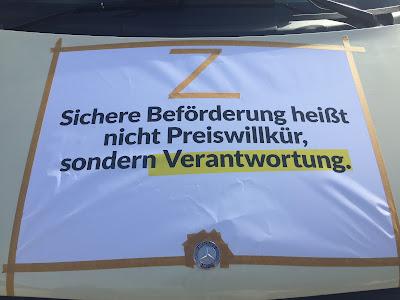 Taxi Demo München 2017 Transparent Preiswillkür