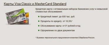Виды кредитных карточек