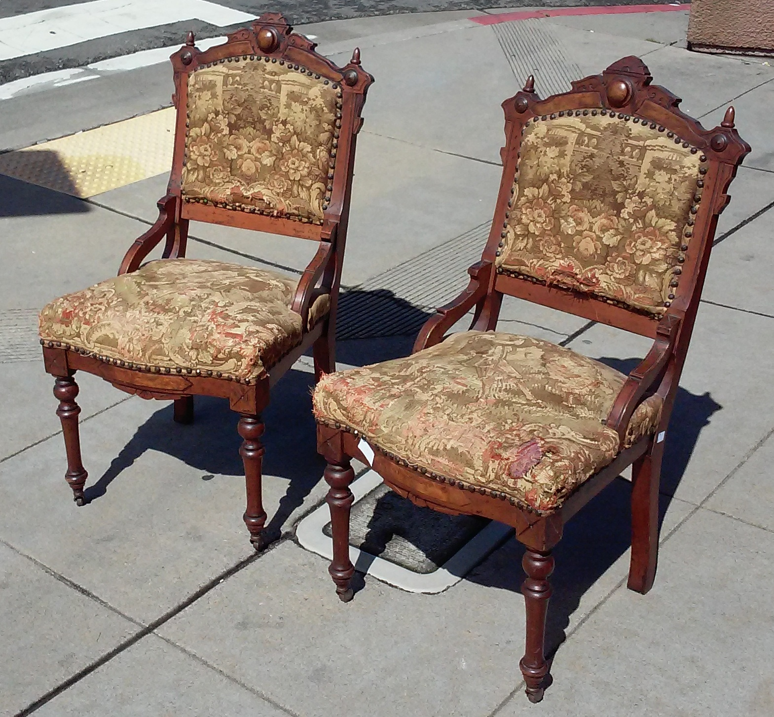 Eastlake Victorian Parlor Chairs Modern Outdoor Rocking Uhuru Furniture And Collectibles Sold Bargain Buy
