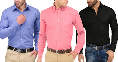 London Looks New Arrival Combo of 3 Solid Shirt
