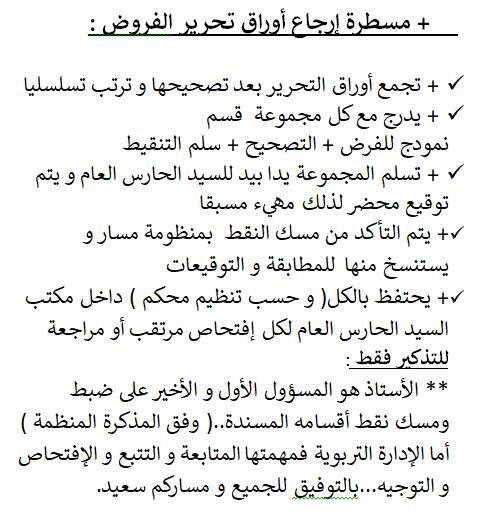 مسطرة إرجاع أوراق التحرير و التنقيط للإدارة تشوبها الكثير من النواقص ..