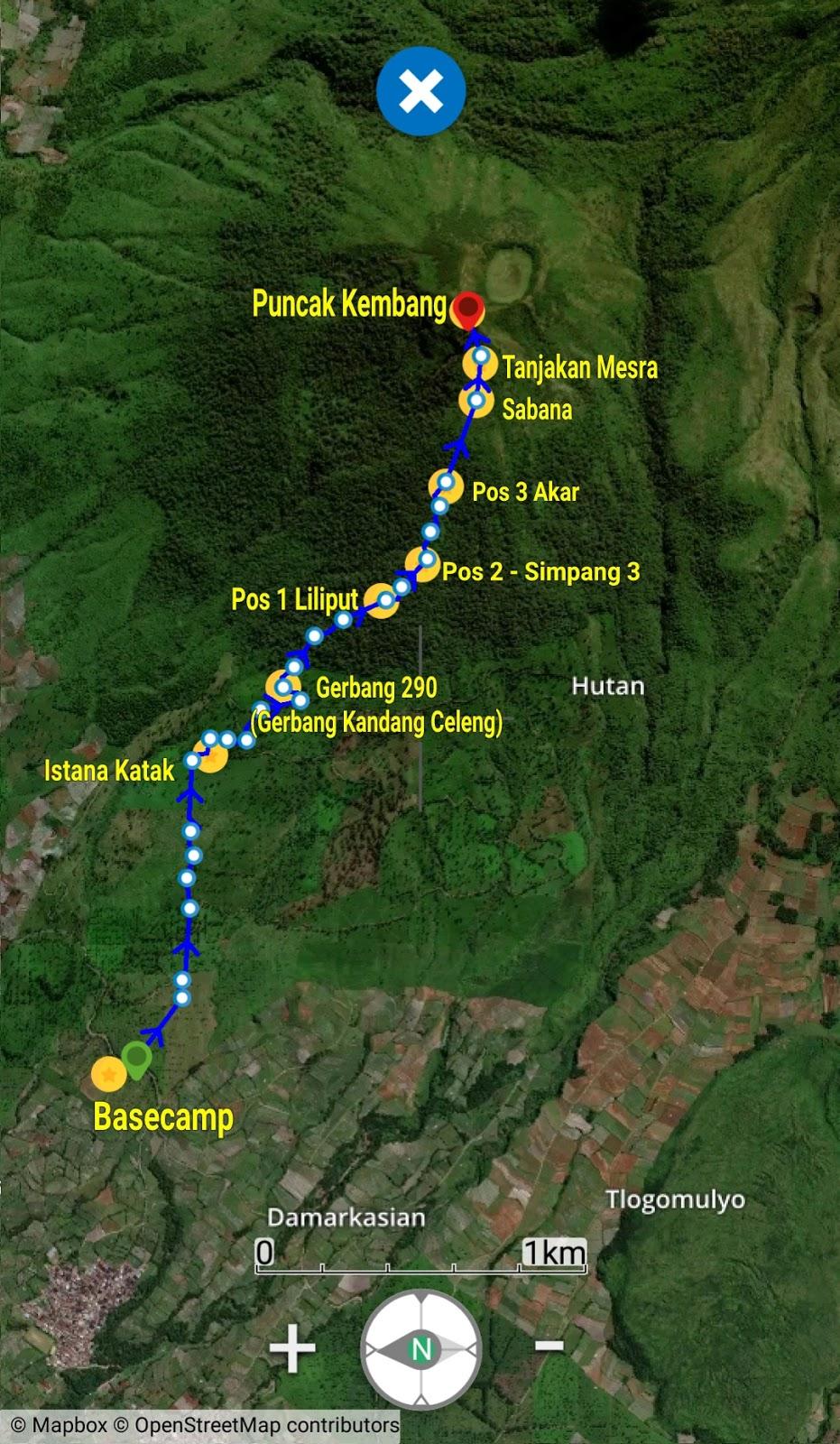 Jalur Pendakian Gunung Kembang Via Blembem Wonosobo Tenda Inspirasi