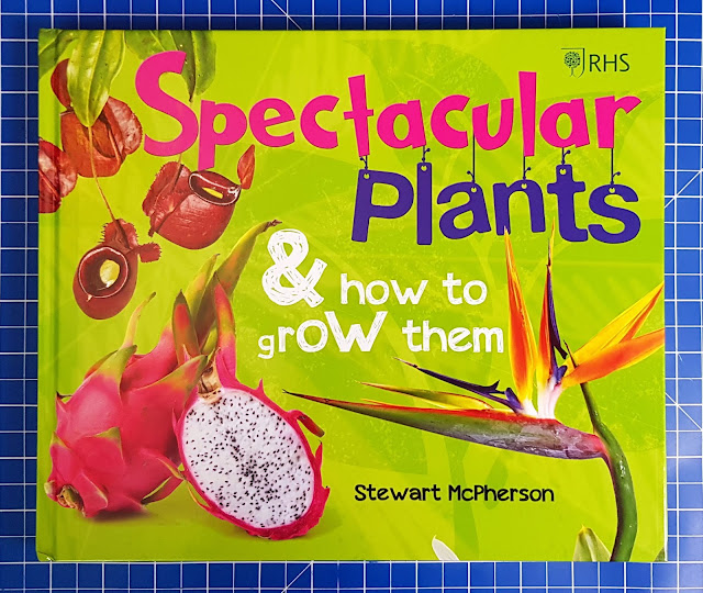 RHS Spectacular Plants & How To Grow Them Book cover showing drawn images of plants