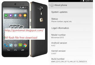 Micromax E313 flash file-tools firmware Free Download without password