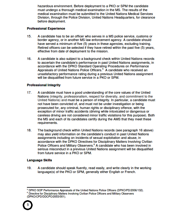 United Nations Peacekeeping Missions: NEW SAAT EXAM GUIDELINES