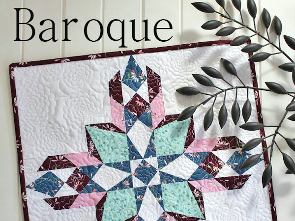 Baroque Mini Quilt + Your Free October 2017 Calendar