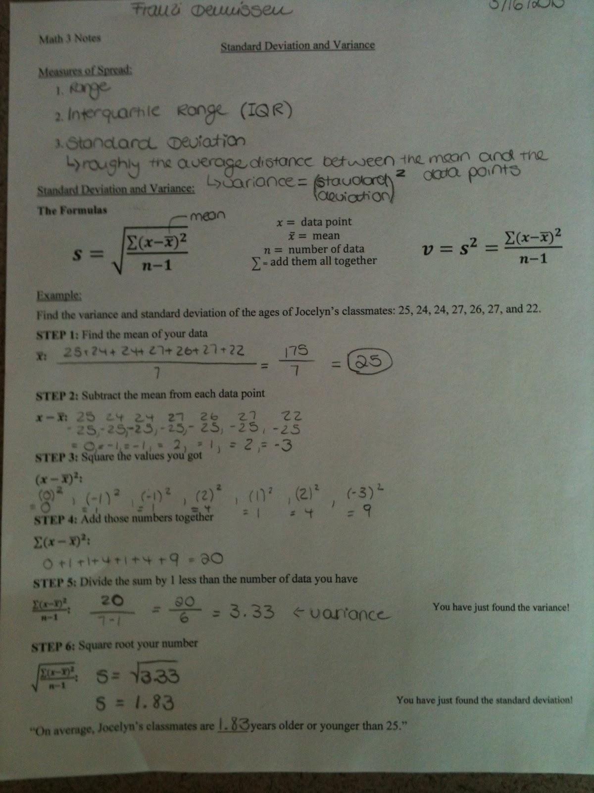 Hthma 11th Grade Math Notes
