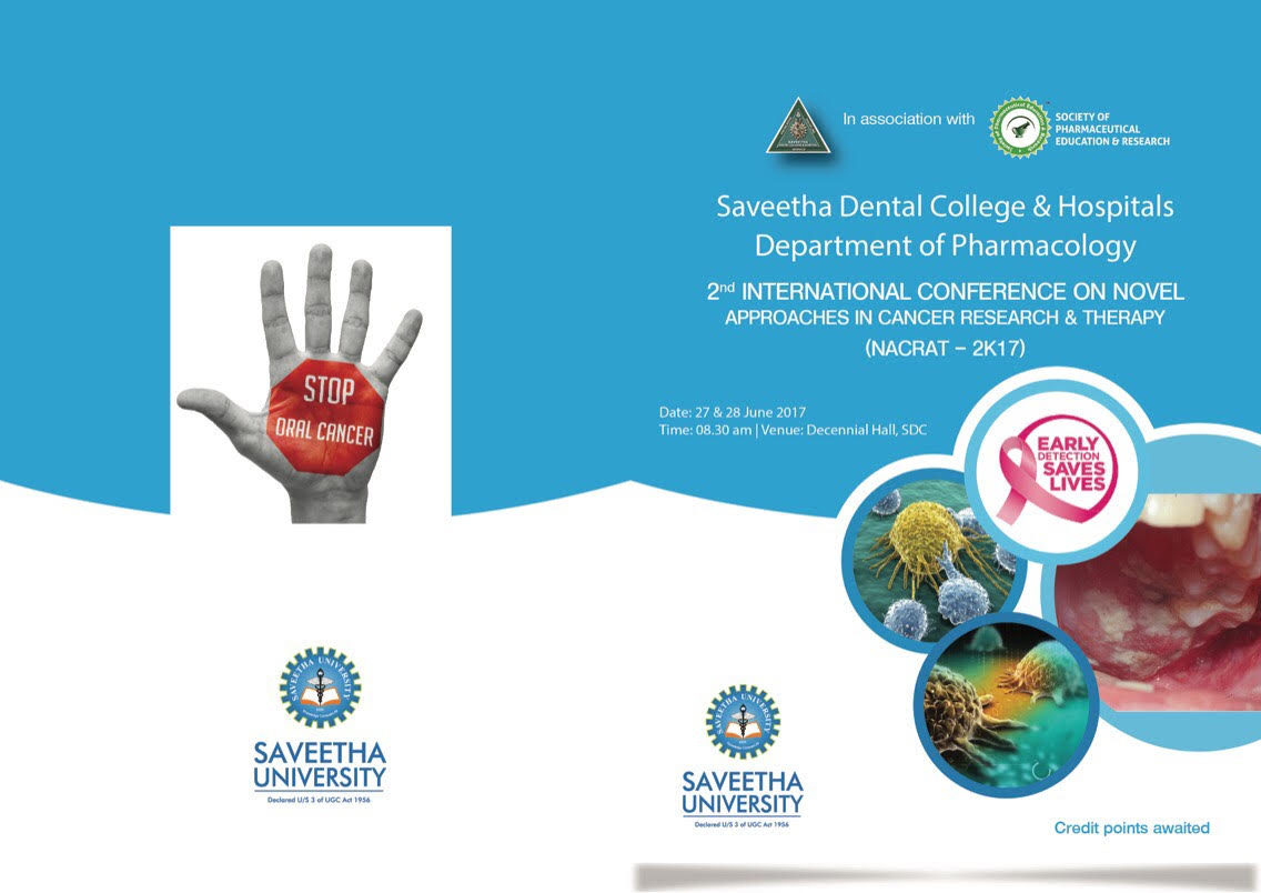 2nd International Conference On Novel Approaches In Cancer Research