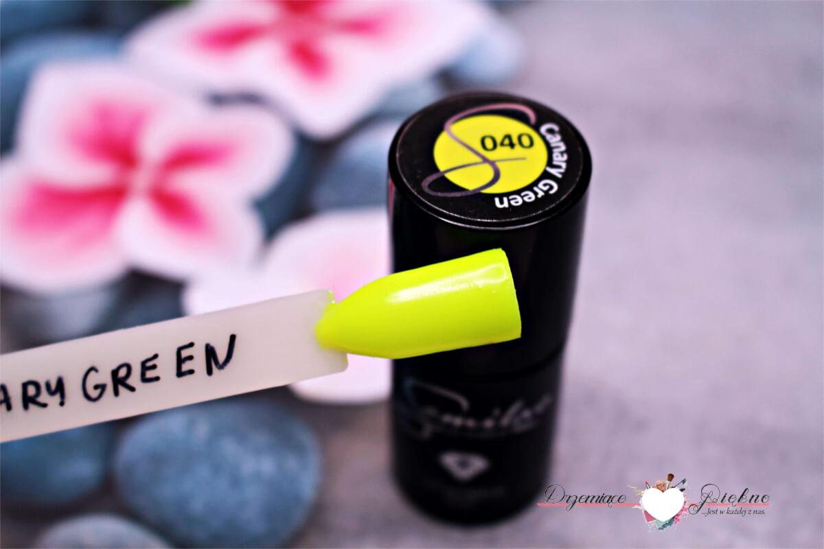 Semilac Green Canary nr. 040 - Neonowy Lakier hybrydowy
