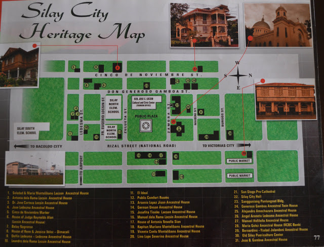 silay city heritage map