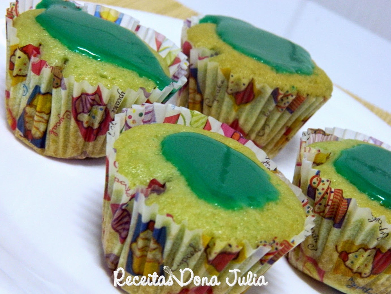 Cupcake de gelatina (sem leite, ovos e soja)