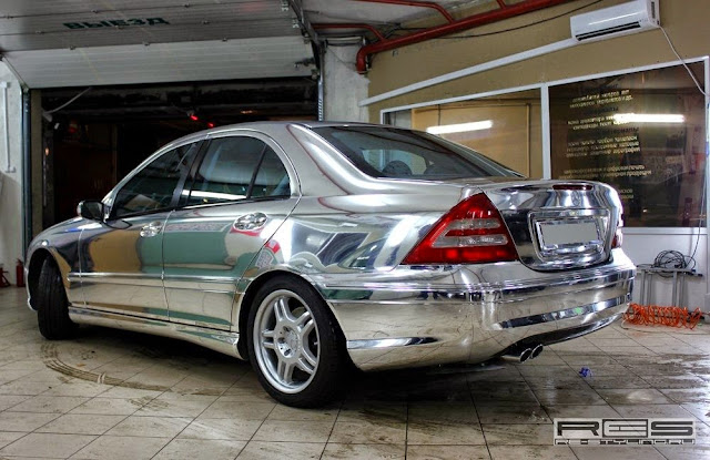 mercedes custom mirror wrap