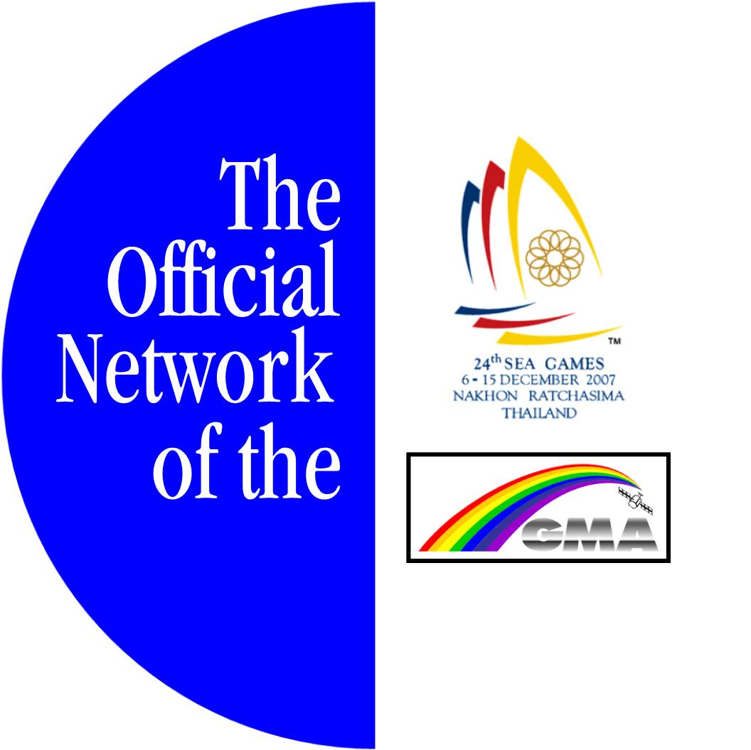 The GMA The Official Network pin for the 2007 Southeast Asian Games