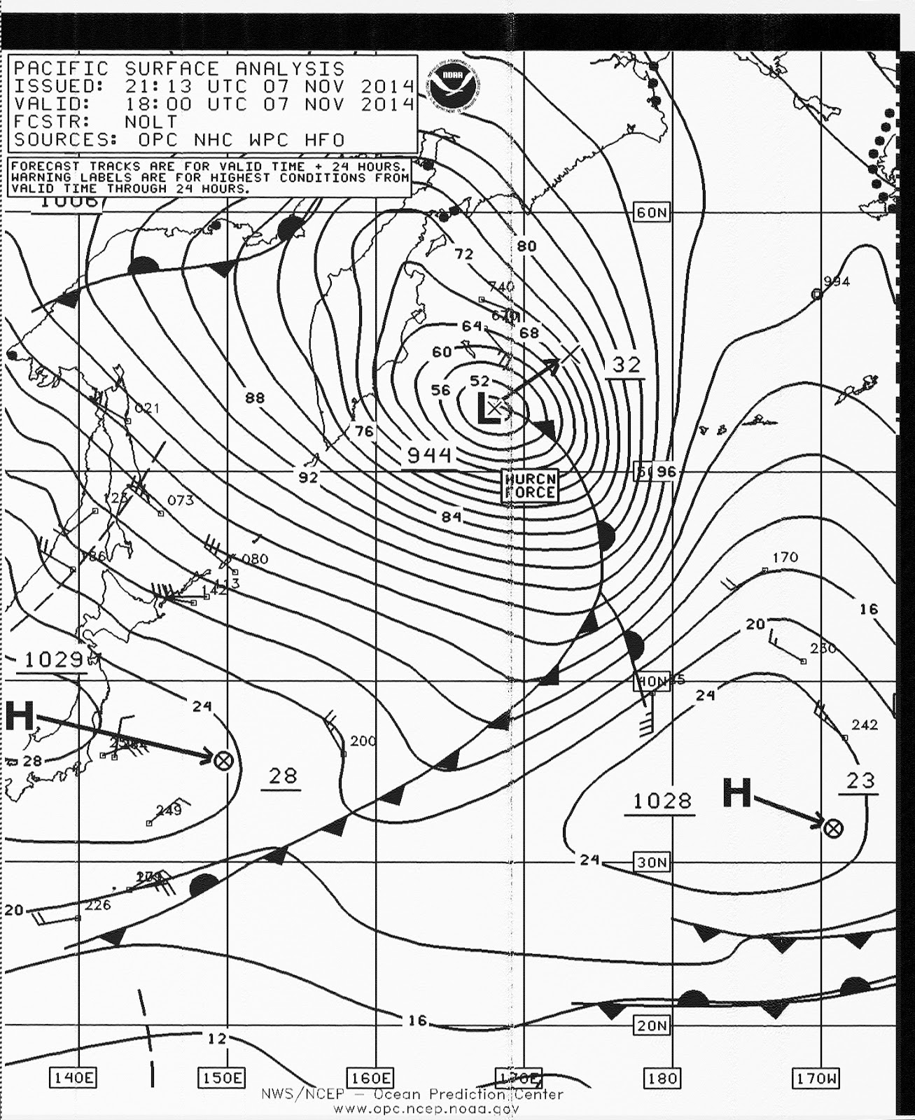 Utility Planet: NMC Pacific Surface Analysis Showing Nov