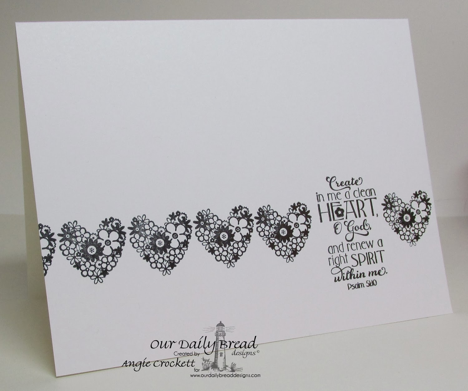 ODBD Clean Heart Card Designer Angie Crockett