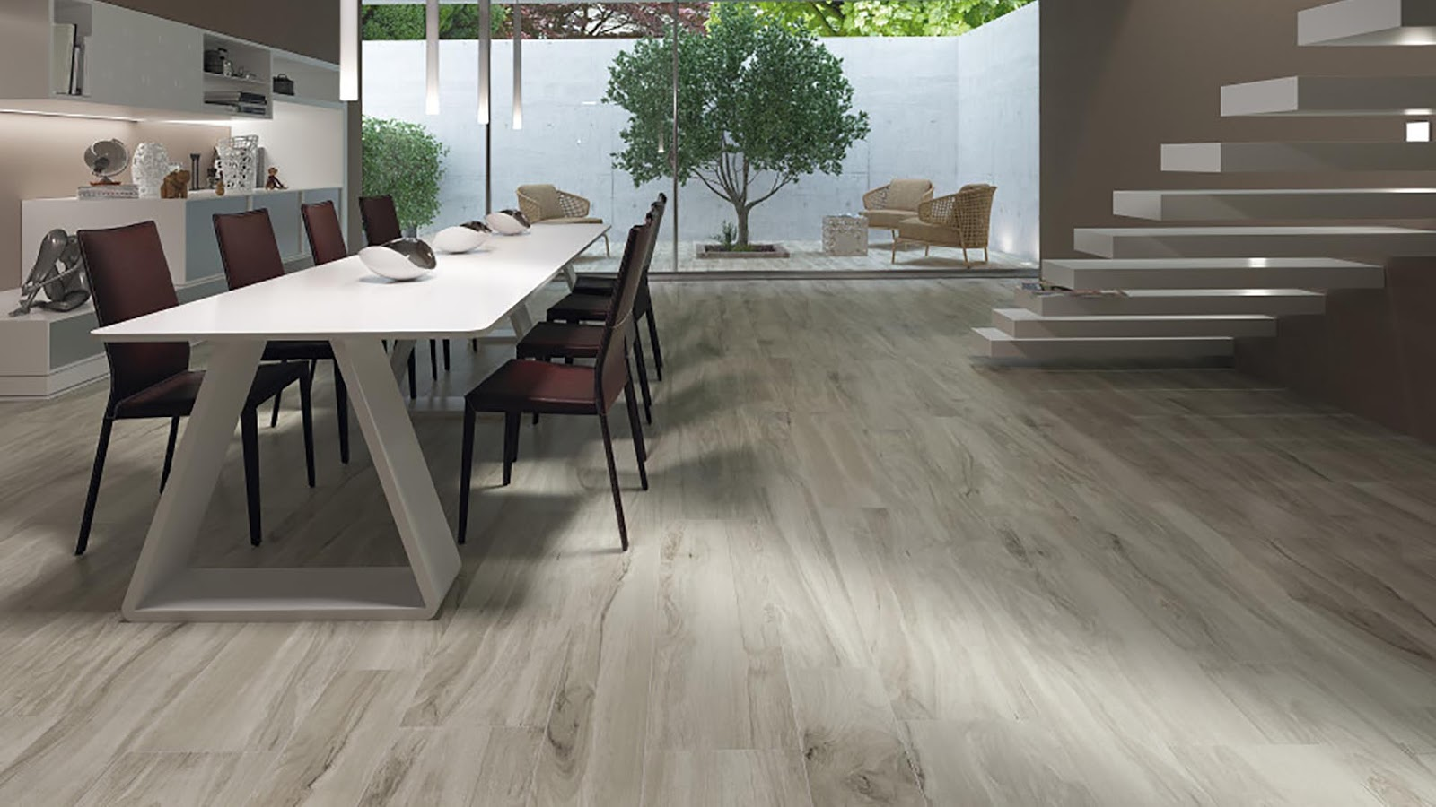 Wood Finish Floor Tiles Vermont Collection