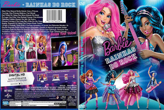 Capa DVD Barbie Rainhas Do Rock