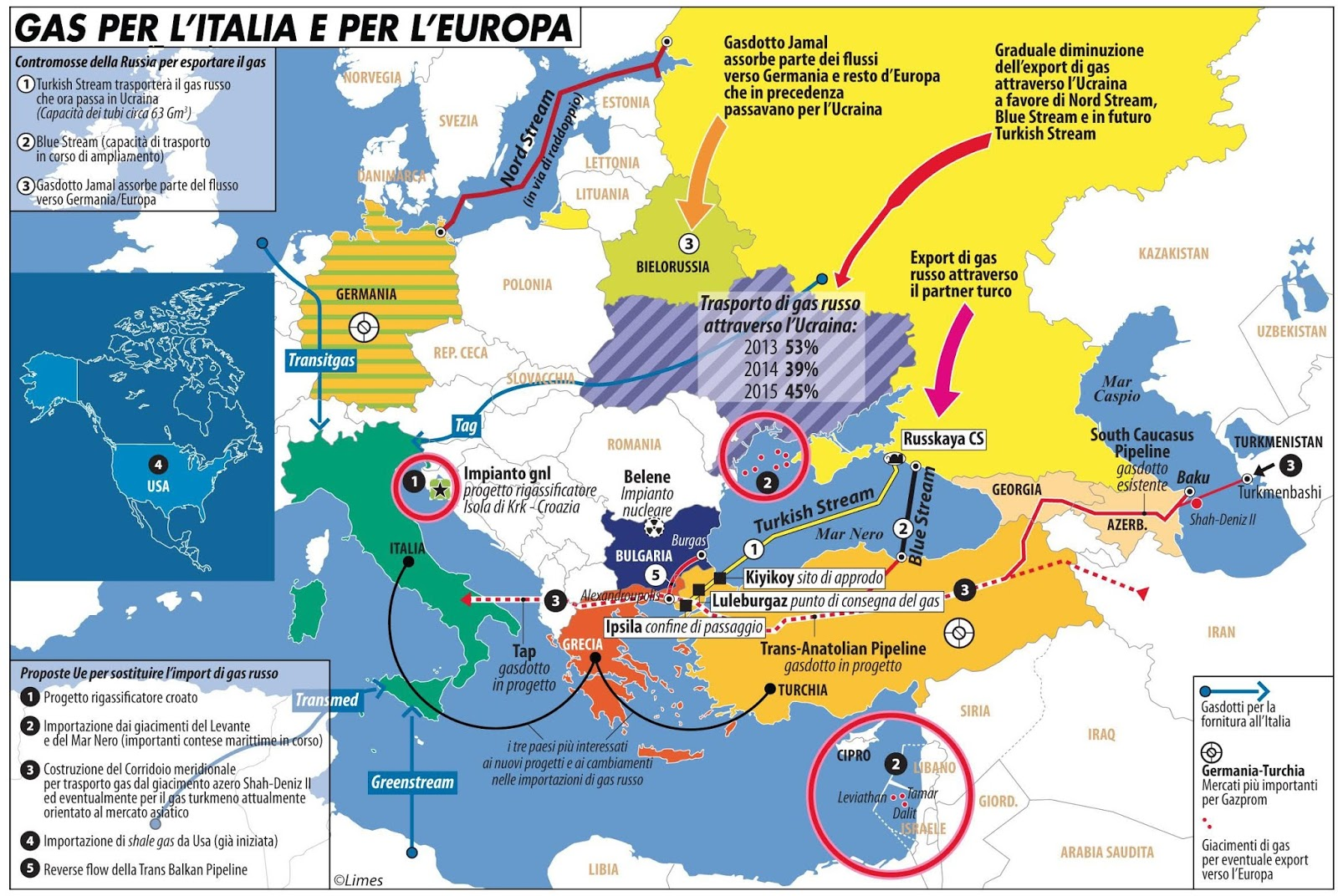Limes club trieste gas ed energia per l 39 europa una - Mappa di ungheria ed europa ...