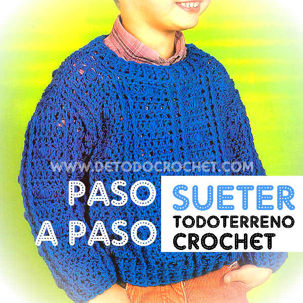 como tejer pulover para niño con crochet moldes y explicaciones