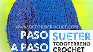 Suéter Todoterreno al Crochet para Niño / Paso a paso