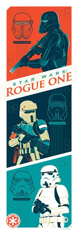 "Star Wars Rogue One ""Imperial Troops"" Screen Print by Dave Perillo x Dark Ink Art"