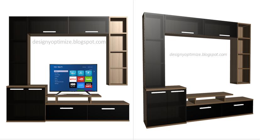 Dise o de muebles madera mueble para tv pantalla plana for Muebles de tv de diseno
