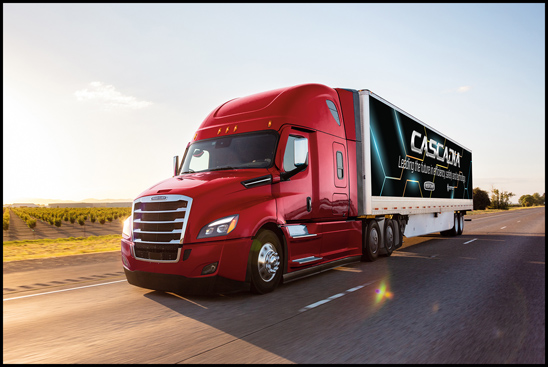New Freightliner Cascadia with Advanced Safety Solutions and Aerodynamic Enhancements