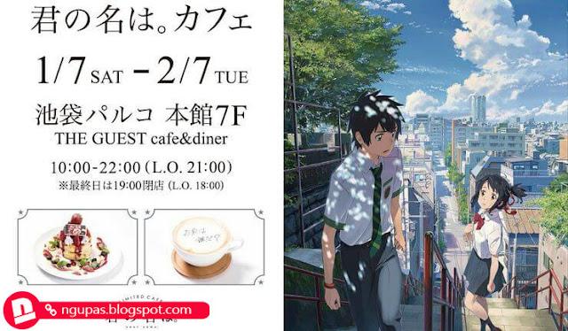 Kafe Kolaborasi 'Kimi no Na wa' Sajikan Makanan Seperti dalam Animenya
