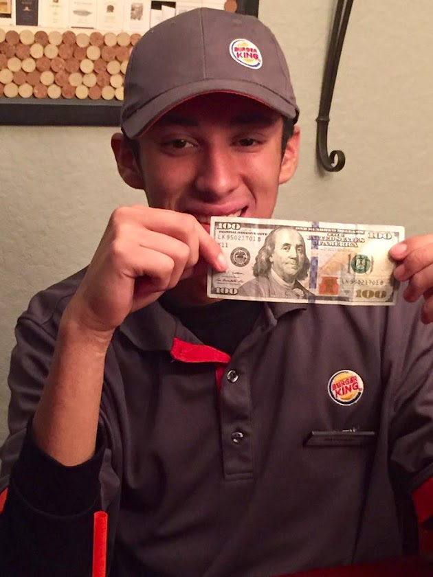 Young Cashier Receives Huge Tip, Earns Praise after Paying for a Homeless Man's Meal with Own Money