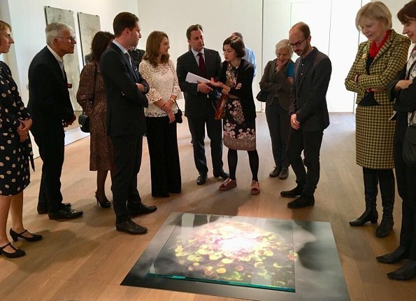 Hereditary Grand Duchess Stephanie visited opening of exhibition of artist Su-Mei Tse at Mudam Museum